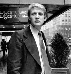 Young Donald Trump.