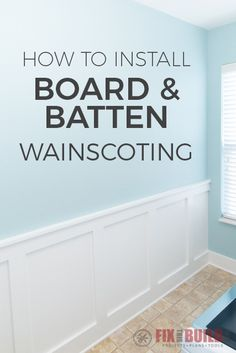 Prodigious Useful Tips: Oak Wainscoting Wood Trim wainscoting design man cave.Wainscoting Nursery Grey wainscoting living room board and batten.Wainscoting Living Room Board And Batten. Installing Wainscoting, Painted Wainscoting, Dining Room Wainscoting, Wainscoting Panels, Wainscoting Ideas, Black Wainscoting, Wainscoting Nursery, Diy Wainscotting, Basement Wainscoting