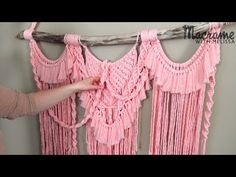 Part 1: Advanced Tutorial: DIY Macrame Wall Hanging with Crafty Ginger - YouTube