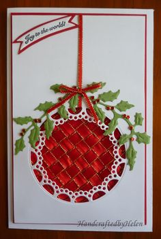 Handcrafted by Helen: Christmas Cards already!