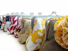Bridesmaids Clutches Bridesmaids Gift by loliscreations on Etsy, $52.00