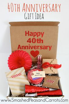 40th Anniversary Gift Idea Ruby Wedding Gifts For Friends Pas