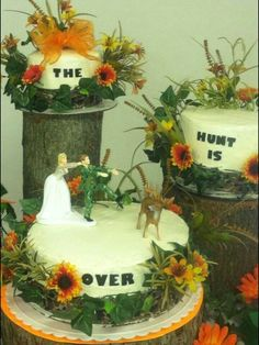 Country / hunting wedding cake