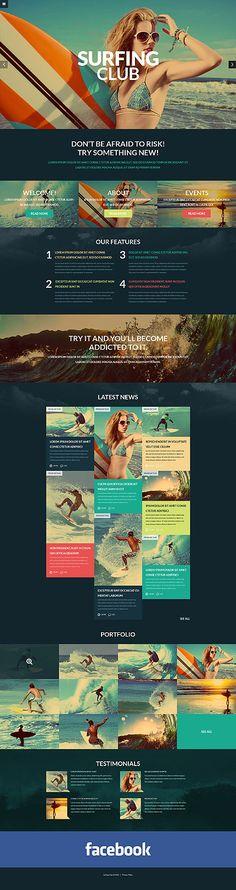 Extreme Sports #WordPressTheme wordpress website template