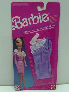 Vintage Barbie 1989 Easy Living Fashion Purple Dress Clothes 6630 | eBay