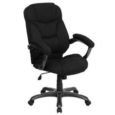 High back office chair - Pin it :-) Follow us     :-)) AzOfficechairs.com is your Office chair Gallery ;) CLICK IMAGE TWICE for Pricing and Info :) SEE A LARGER SELECTION of  high back  office chair at  http://azofficechairs.com/?s=high+back+office+chair -  office, office chair, home office chair  - Flash Furniture GO-725-BK-GG High Back Black Microfiber Upholstered Contemporary Office Chair « AZofficechairs.com