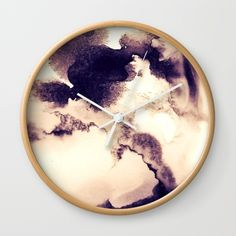 Coffee Cloudscape Wall Clock by swavstudio