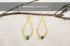Easy Trapeze Earrings at Live Craft Love - so easy to make!