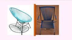 Les chaises scoubidou, typiques des années 1950, étaient utilisées pour l'extérieur par les enfants comme par les adultes