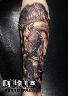 Tatuaje caballo - Miguel Bohigues - Vtattoo