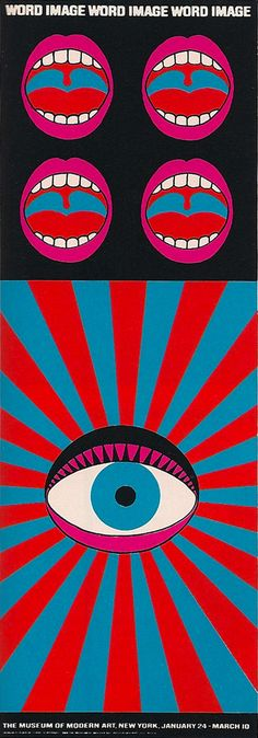 exhibition poster for the MOMA by Tadanori Yokoo (1968)