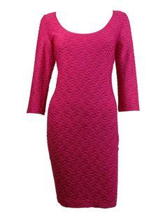 Guess LA Women's Kira Scoop Neck Textured Dress
