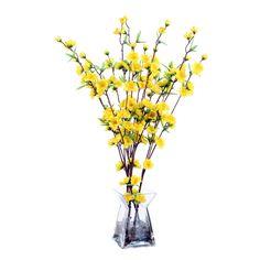 Vickerman Co. Floral Blossom in Acryllic Vase