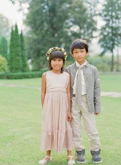 Adorable flower girl & ring bearer pair: http://www.stylemepretty.com/2015/11/19/colorful-european-castle-wedding/   Photography: Peter & Veronika - http://peterandveronika.com/language/en/