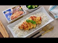 Piept de pui umplut cu mozzarella si rosii   JamilaCuisine - YouTube Mozzarella, Broccoli, Foodies, Good Food, Food And Drink, Cooking Recipes, Chicken, Meat, Youtube