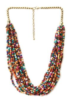 Nature Girl Beaded Necklace | FOREVER21 #Accessories #Necklace #Layers