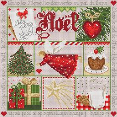 "french cross stitch pattern & charm  L'Etoile de Noel ""The Christmas Star"" at thecottageneedle.com"