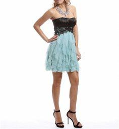 Black/Mint Lace Homecoming Dress on Wanelo
