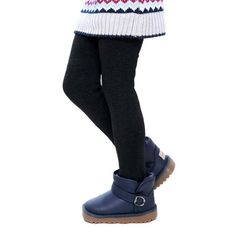 25% OFF - Winter Girls Pants Children Thick Warm Elastic Waist Leggings