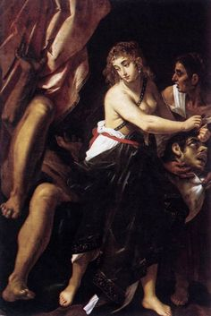 Judith et la tête d'Holopherne 1608 Villa Borghese