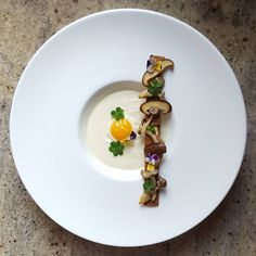 "355 Likes, 16 Comments - Chai (@lvin1stbite) on Instagram: ""Cauliflower soup, quail egg, shitaki & shimeji mushroom, wood sorrel and viola flower…"""