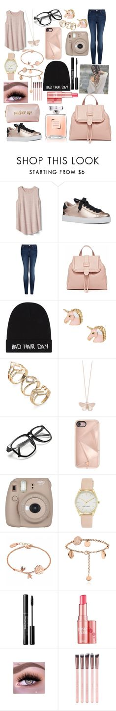 """Untitled #1303"" by bibijag ❤ liked on Polyvore featuring Gap, Nine West, MANGO, Local Heroes, Alex Monroe, Rebecca Minkoff, Fujifilm, Benefit and Neiman Marcus"