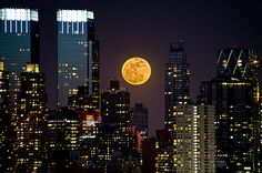 During the full moon on March 19th 2011 the moon was only 221,565 miles (356,575 kilometers) away. The closest it's been in almost 20 years. It appeared 14 percent bigger and 30% brighter than usual on that particular day.