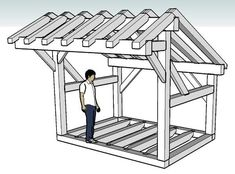 Wood Shed Idea in Timber Framing/Log construction Source by ideas Firewood Shed, Firewood Storage, Boys Room Decor, Boy Room, Building A Wood Shed, Building Plans, Shed Base, Shed Construction, Cheap Sheds