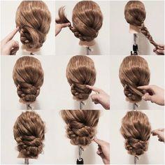 coiffure simple et rapide avec tresse, idée de coiffure avec tresse