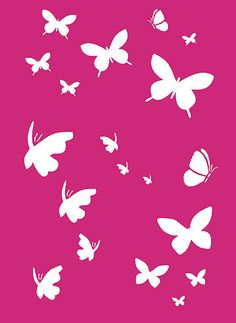 Pink Butterfly Backgrounds | Butterfly Stencils Litttle Butterflies