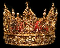 The crown of King Christian IV of Denmark, currently located in Rosenborg Castle, Copenhagen.