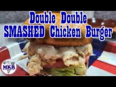 Double Double SMASHED Chicken Burger On The Blackstone Pro Series Griddle Griddles, Bbq Grill, Kitchen Recipes, Grilling Recipes, The Creator, Chicken, Easy, Food, Barbecue Pit