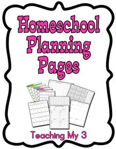 Planning Pages for Teachers & Homeschoolers - Free