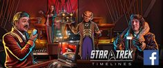 Timelines Available Now to Play on Facebook   You asked for it and Disruptor Beam heard you. Star Trek Timelines previously only available on mobile devices is now available to play in your web browser through Facebook Games and on your Windows PC desktop with Facebook Gameroom. Now whether youre out exploring the Alpha Quadrant or safe in your crew quarters charging your devices your crew fleets squadrons and events are at your fingertips ready to explore strange new worlds.  Whats more…