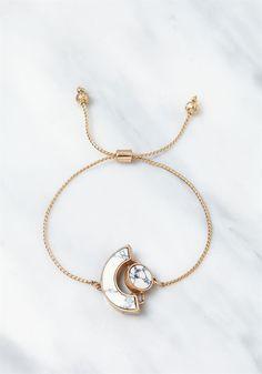 Plus Size Clothing   Gold & White Stone Bracelet   Debshops.com