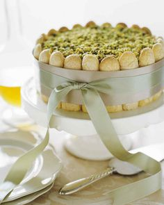Pistachio Bavarian Cream and Praline