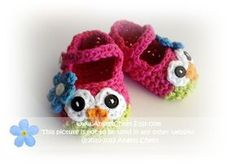 Adorable Crocheted Owl Shoes