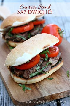 I love a good caprese salad, and since grilling season is here, I figured I'd combine all the flavors of caprese salad with a seasoned grilled steak and serve it up sandwich style. My husband...