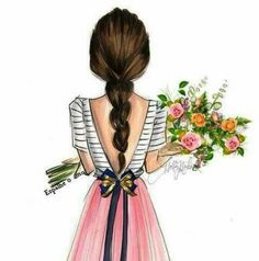 girly drawings sketches easy drawing pretty illustration painting wallpapers amazing uploaded user visit