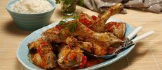 Cataplana_de_frango_4_D Portuguese Recipes, Portuguese Food, Food And Drink, Turkey, Chicken, Brazilian Recipes, Projects, Cook, Cooking Recipes