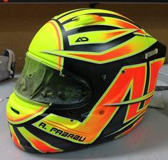 Ya casi terminado el nuevo casco de Aitor.... #aerografo #aerografia #airbrush #airbrushing #design #custom #customhelmet #helmet #helmetdesign #casco #carhelmet #motorsport #racing #aerodiseño #helmetart #helmetpaint #art #customhelmetpaint #custompaint #instahelmet #allaboutdetail #artstudio #helmetporn #aerodiseno by aerodiseno