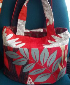 New Spring Summer look with this fully lined canvas bag  £22.00 incl. delivery to UK  www.craftsoftheworldonline.com