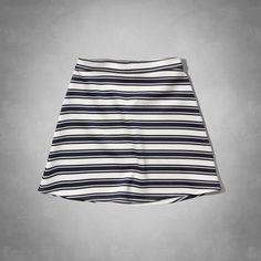 Pattern Neoprene Skater Skirt