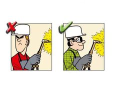 Yanlış ve Doğruları ile İnşaatta İş Güvenliği | İnşaat Gündemi Safety Cartoon, Construction Safety, Industrial Safety, Safety Posters, Safety First, Safety And Security, Fire Safety, Civil Engineering, Good Morning Quotes