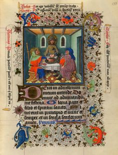 Supper at Emmaus | Hours of Catherine of Cleves | Illuminated by the Master of Catherine of Cleves | ca. 1440 | The Morgan Library & Museum