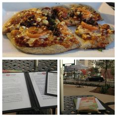 Greek Pizza at Pizza Fusion in Tampa, Florida