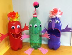 Pop Bottle Critters.  Library Craft 2013.