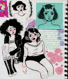 "mermaidblobs: "" new journal. Pretty Art, Cute Art, Art Sketches, Art Drawings, Character Art, Character Design, Arte Sketchbook, Dibujos Cute, Wow Art"