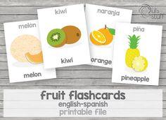 Un favorito personal de mi tienda Etsy https://www.etsy.com/mx/listing/238443730/tarjetas-de-frutas-imprimibles-para