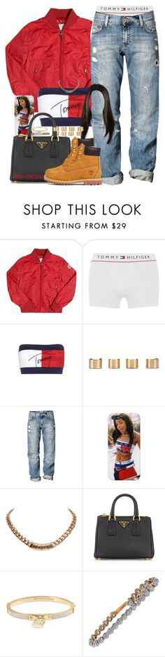 """""""🔑 to success"""" by x0-chelseaa ❤ liked on Polyvore featuring Moncler, Tommy Hilfiger, Maison Margiela, H&M, Givenchy, Prada, Michael Kors, Tiffany & Co. and Timberland"""